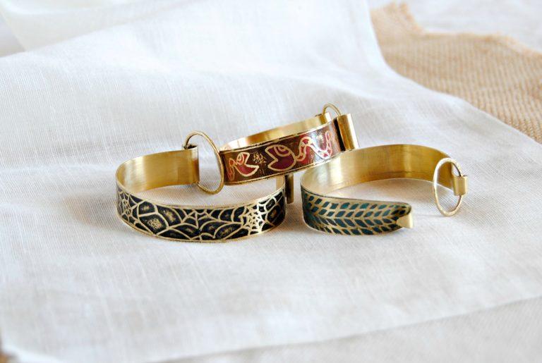 Moda ecológica online pulseras de latón